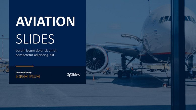 aviation presentation welcome slide in corporate design