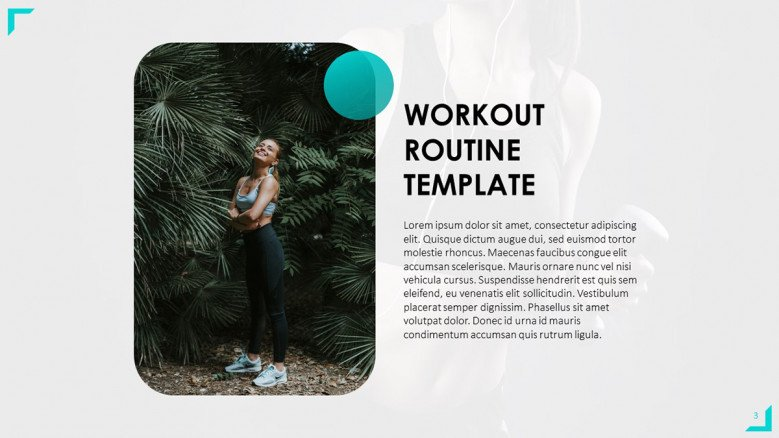 Workout Routine Text Slide