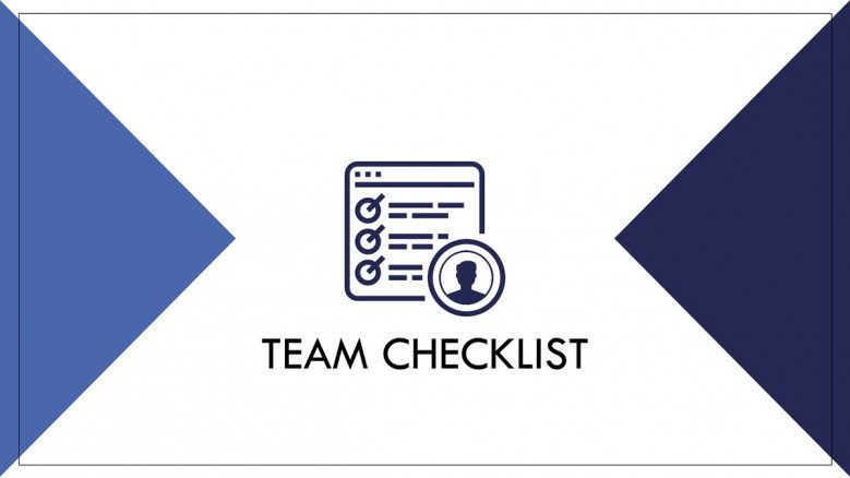 Team Checklist in PowerPoint