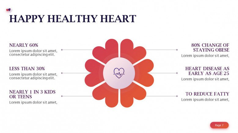 Happy healthy heart diagram