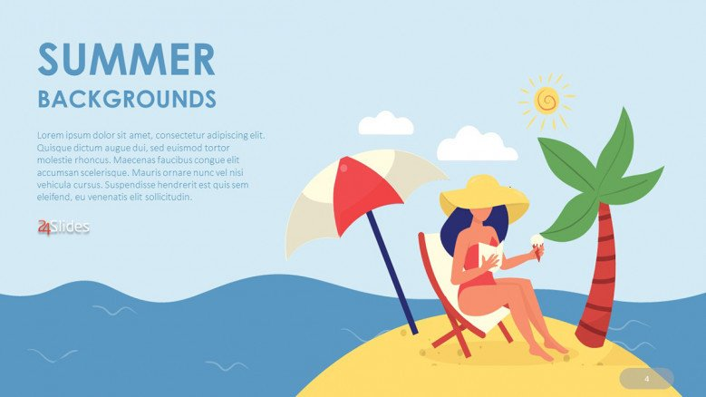 Illustrated Summer PowerPoint Background