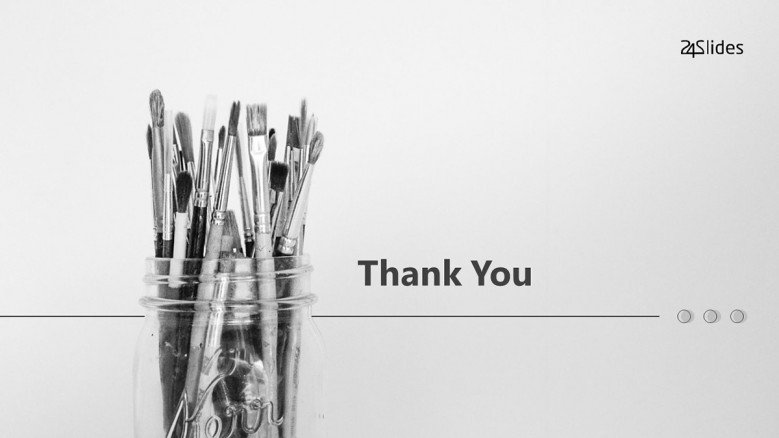 Thank you Slide in black and white for an artistic presentation