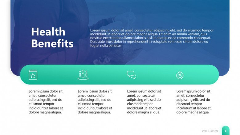 Employee Healthcare Benefits PowerPoint Slide
