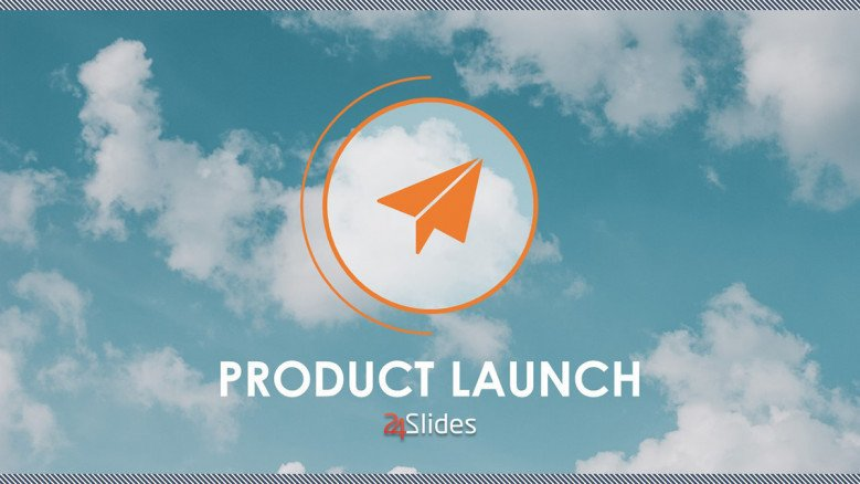 creative product launch welcome slide