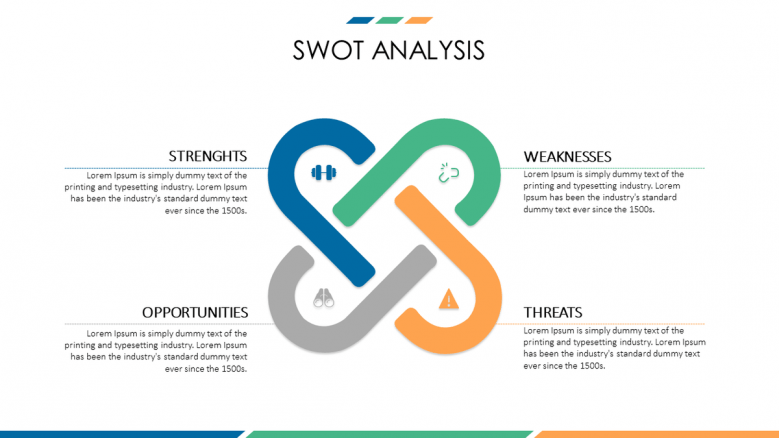 business presentation SWOT analysis slide