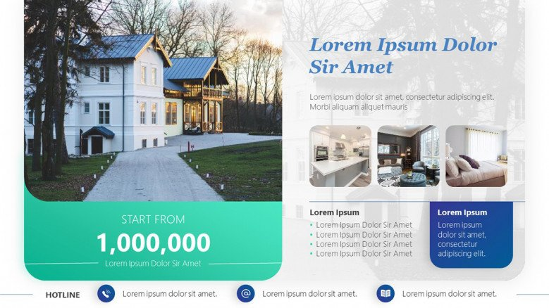 Real Estate Flyer for Luxury Houses