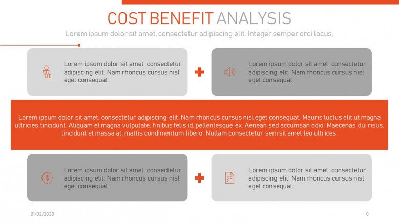 Cost-benefit analysis formula slide