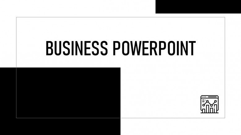 Black and white Business PowerPoint Presentation