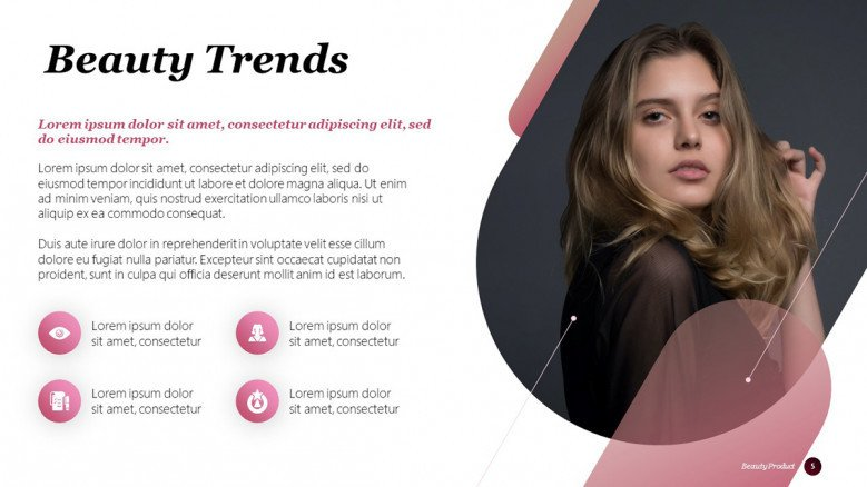 Beauty Trends PowerPoint Slide in creative style