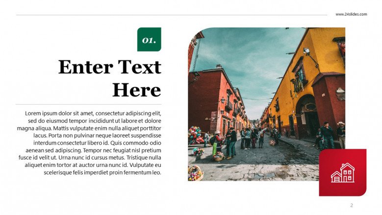 Text Slide with image