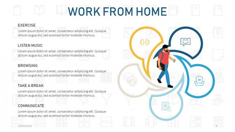 Work from home tips slide