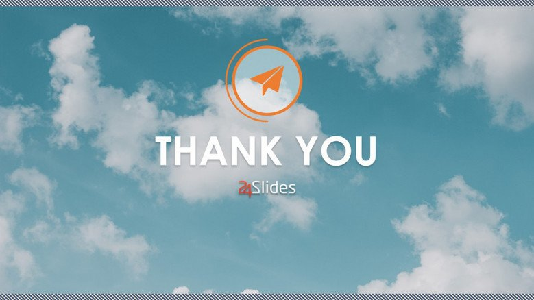 creative product launch thank you slide
