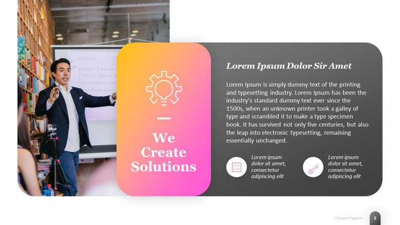 Innovative Solutions PowerPoint Slide