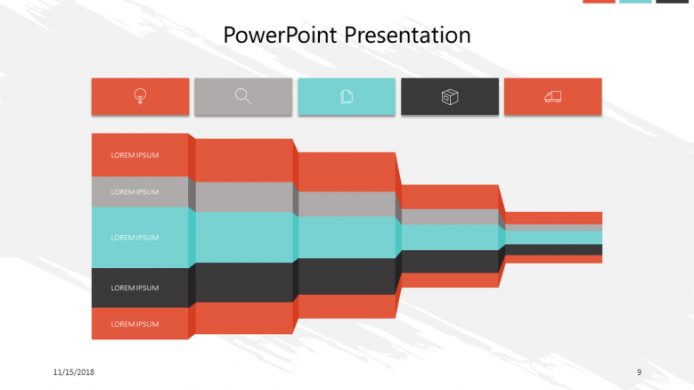 corporate presentation in bar chart