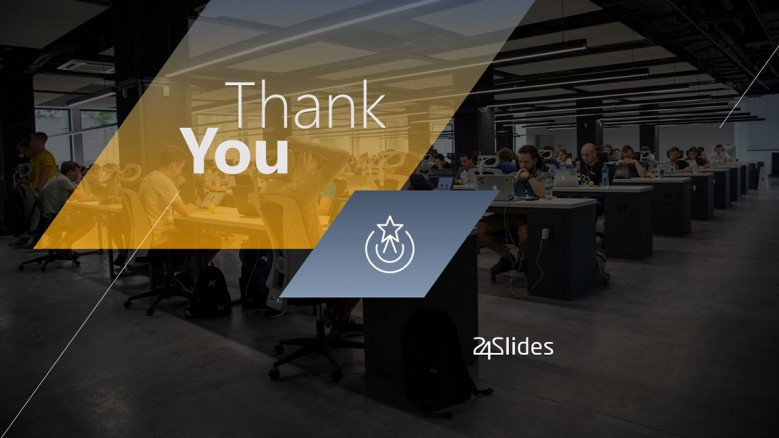 Elegant Thank You Slide for business presentations