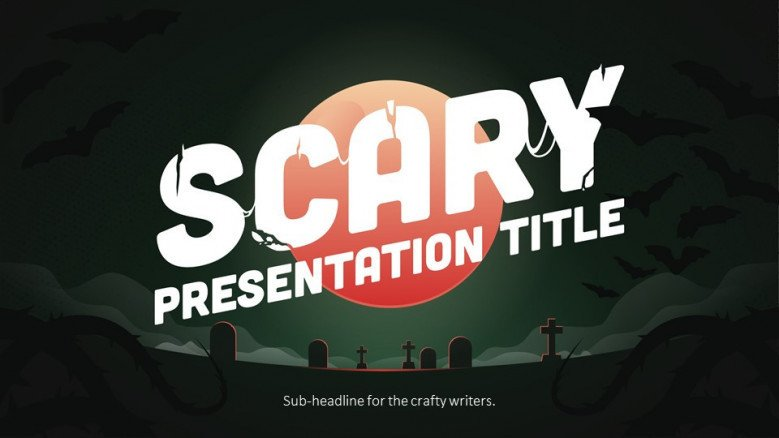 welcome creative slide for halloween theme presentation