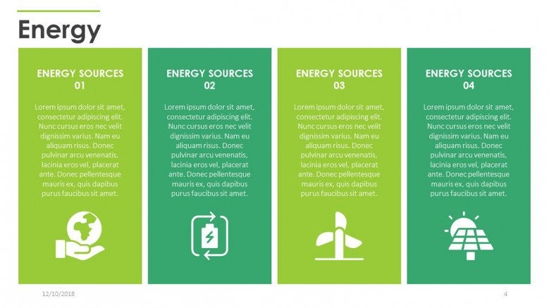four key factors of energy in cards