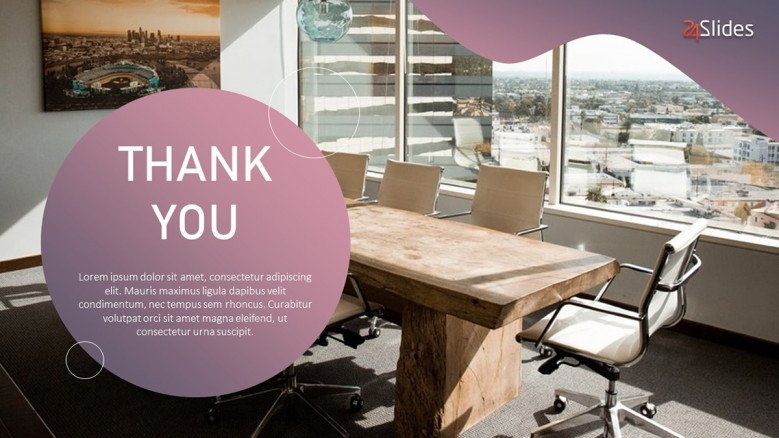 Modern Thank You Slide