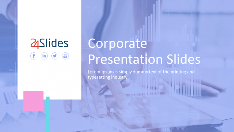 welcome slide for corporate presentation in light theme