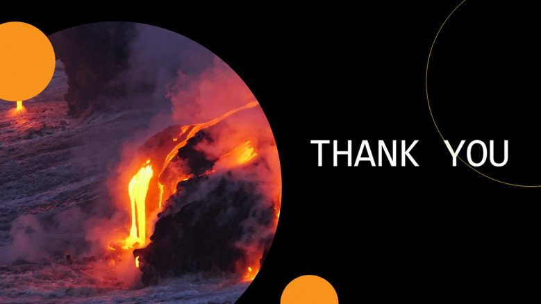 Volcano Thank You Slide