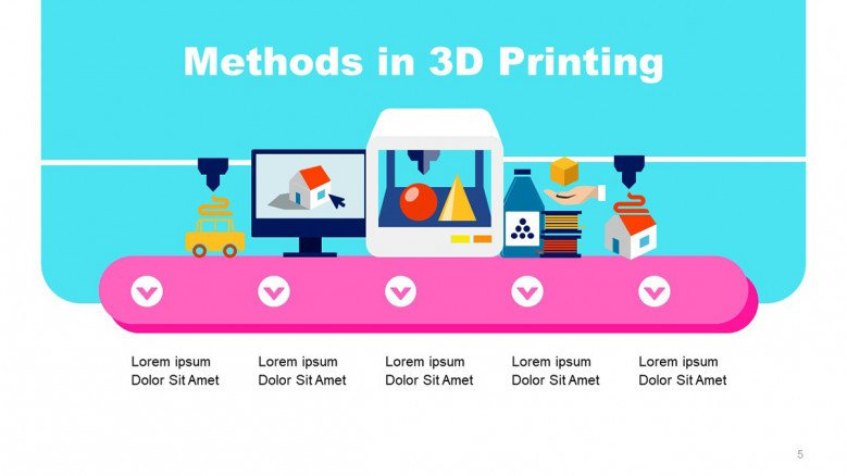 Colorful Slide for 3D Printing Methods
