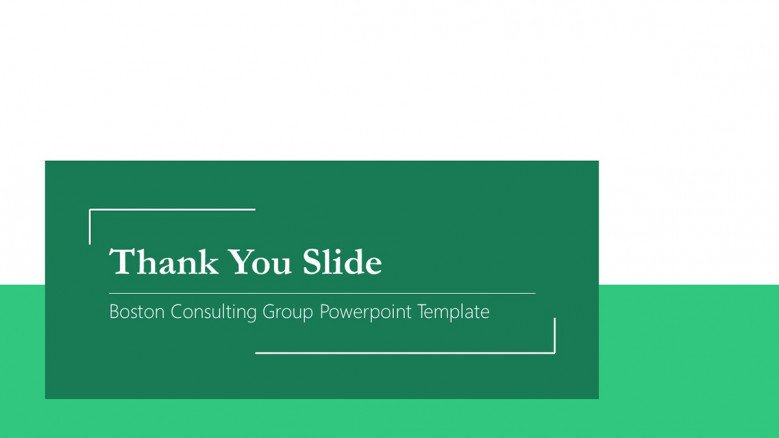 Thank You Slide for a Boston Consulting Group Presentation