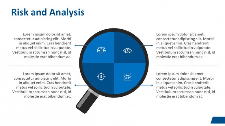 Risk and Analysis Slide for a Business Case Presentation