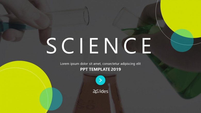 Dark-themed Science PowerPoint Template