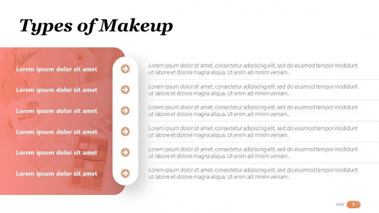 Types of Makeup Slide