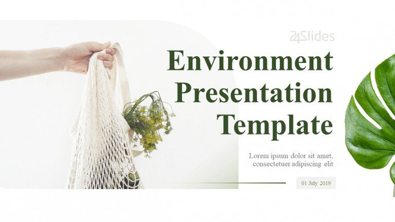 White Slide for a Minimalist Environmental Presentation
