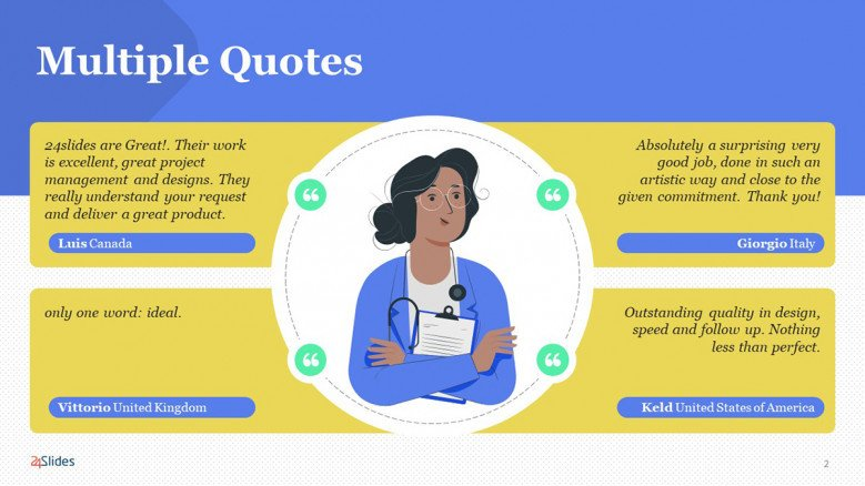 Modern Quote Slide PowerPoint Template