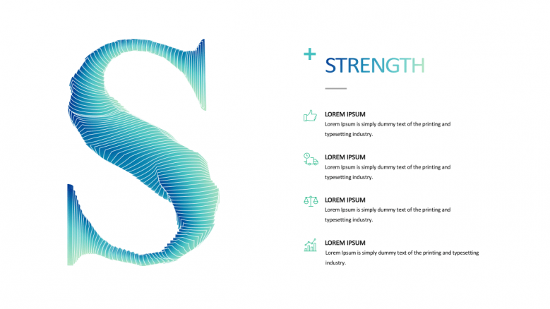 SWOT describing strength
