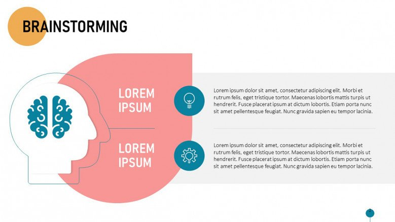 Brainstorming Session's problem Slide in playful style with icons