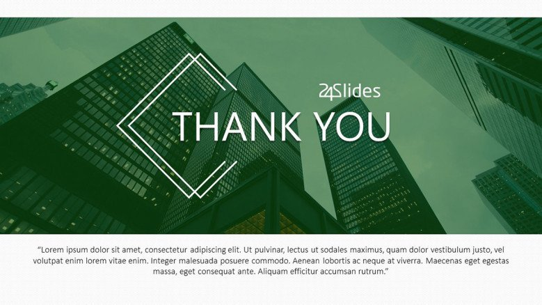 corporate use thank you professional slides