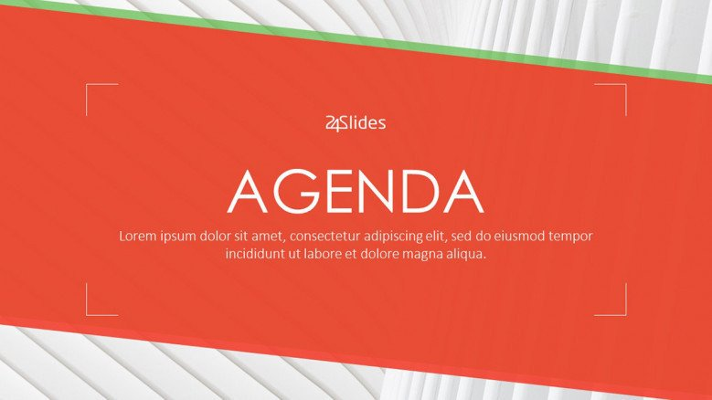 agenda presentation welcome slide