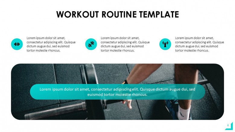 Workout Routine PowerPoint Slide