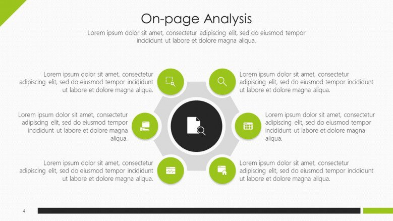 6 green circles on-page analysis