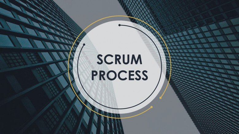 scrum process welcome slide in corporate style
