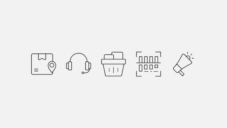 Set of E-commerce and customer support icons