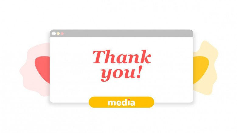 Playful Thank You Slide for a Social Media Report