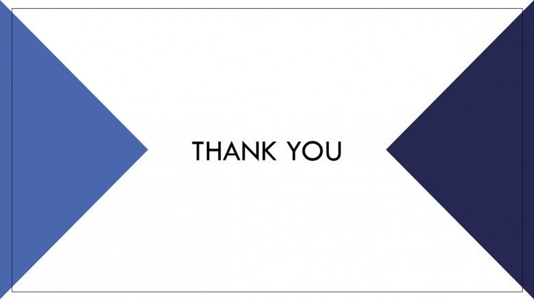 Corporate Thank You Slide in blue and white