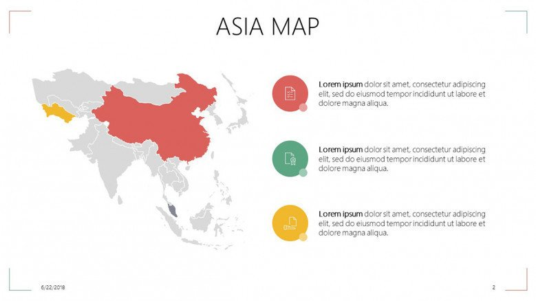 Asia Map | Free PowerPoint Template