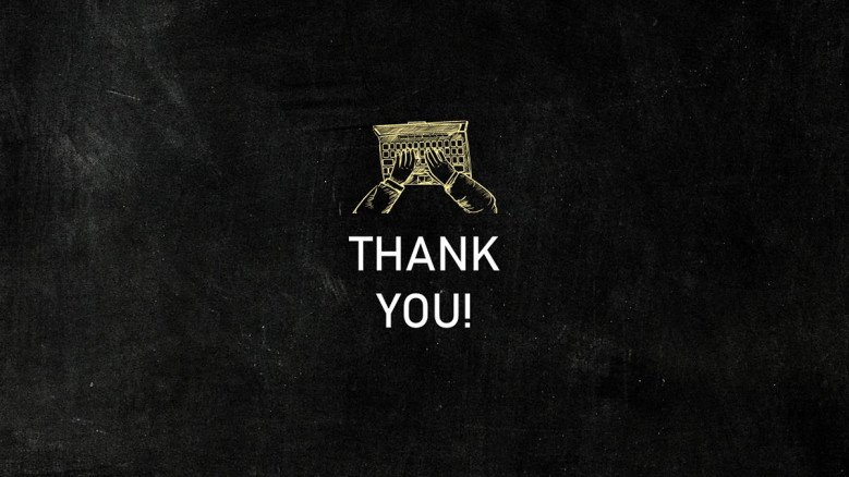 Thank You in black chalkboard background