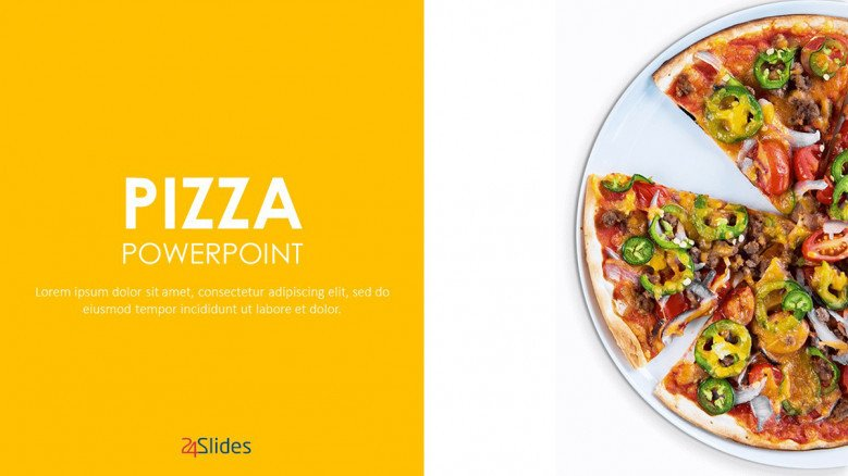 Pizza Text Slide in creative style