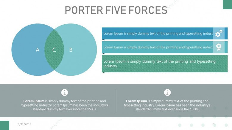 Porter's Five Forces Venn Diagram in corporate style