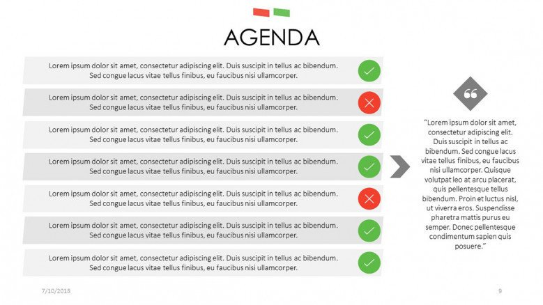 agenda slide with key factors description