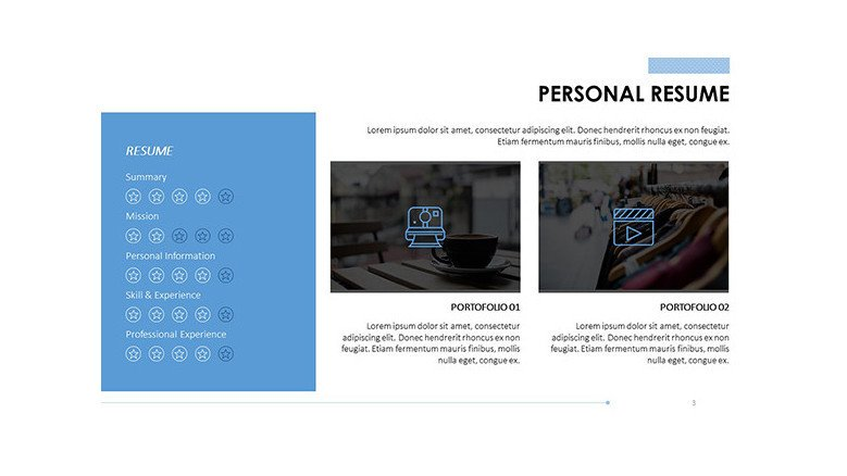 personal resume skill slide with image