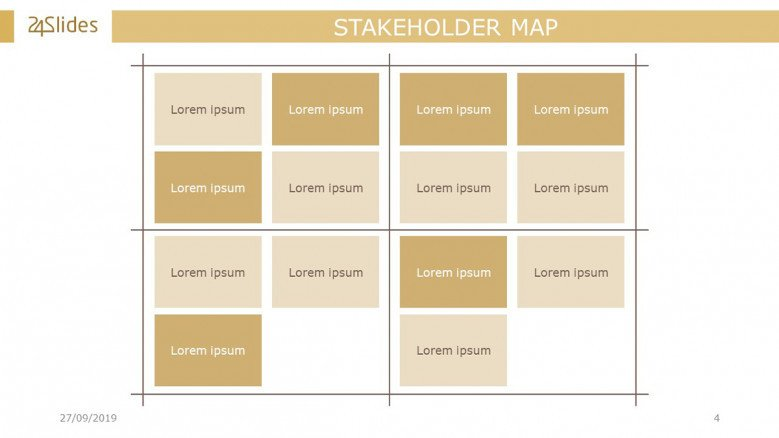 Stakeholder Map Matrix Slide
