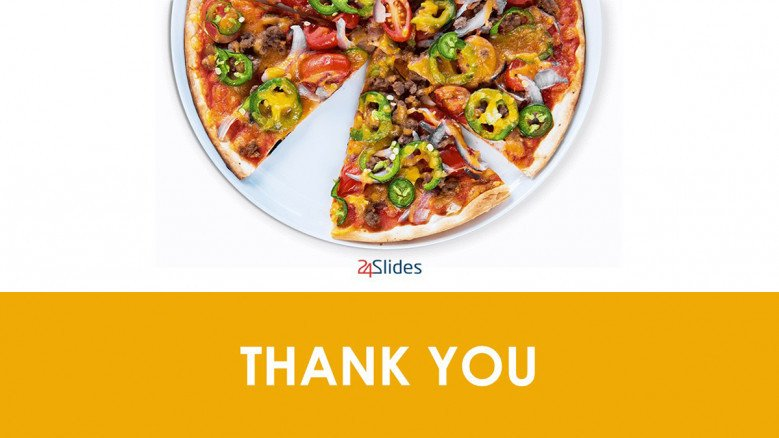 Thank you slide for pizza business