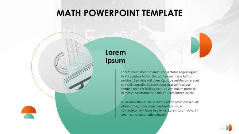 Creative Text Slide for a Cool Math Lesson